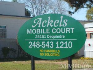 Photo of Ackels Mobile Home Community, Madison Heights, MI