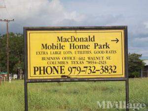Photo of MacDonald Mobile Home Park, Columbus, TX