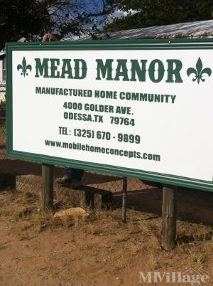 Photo Of Mead Manor Manufactured Home Community Odessa TX